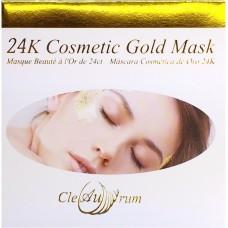 24K Kozmetik Altın Maske (10 adet, 5 x 5 cm)